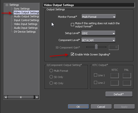 PAL DV Device Preset Step3