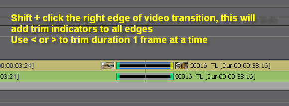 EDIUS trim video and audio transition