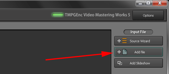 Video Mastering Works 5 - Add File