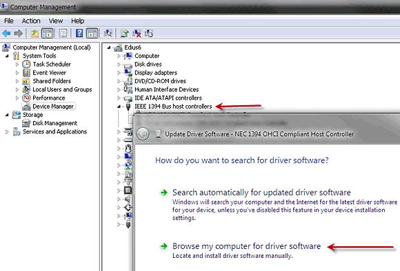 Драйвер ieee 1394 для windows 7.