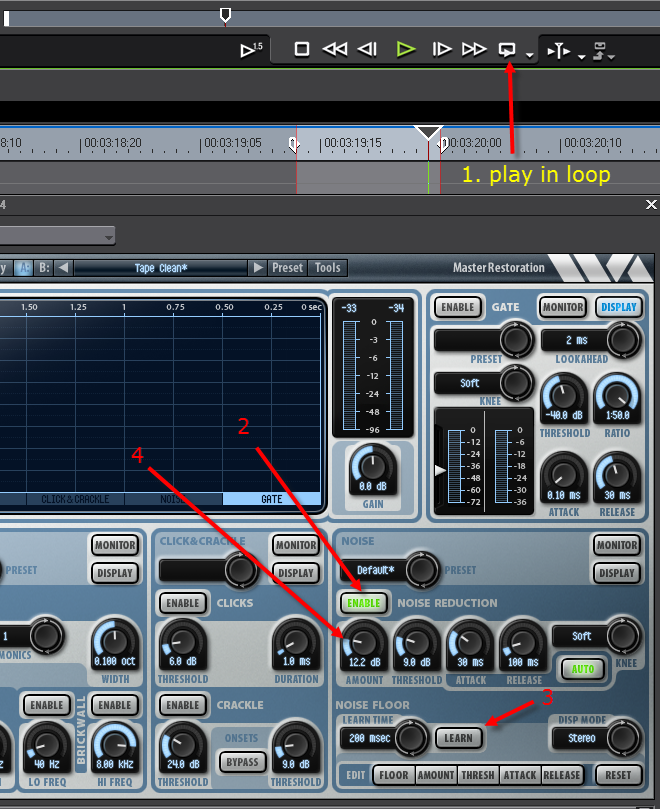 Audio Noise Reduction with EDIUS 7 using Wavearts VST