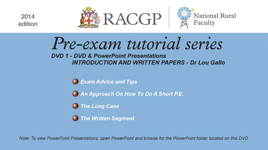 RACGP Tutorial Series 10 DVD Set