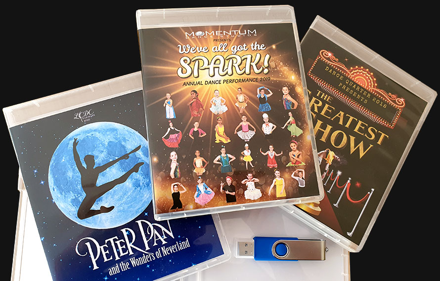 Dance Concerts in dedicated USB Cases