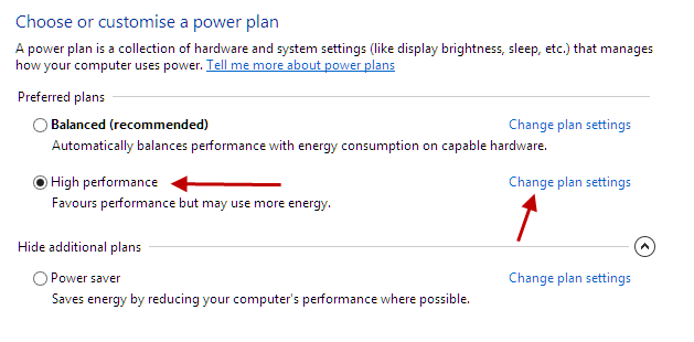 High Performance Power Option in Win8